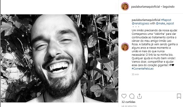 Post de Paula Burlamaqui (Foto: Reprodução/Instagram)