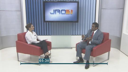 Pimenta de Rondônia, candidato ao governo de RO, é entrevistado no Jornal de Rondônia