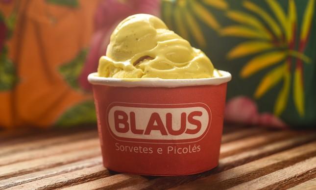 Blaus: sorvete de milho verde