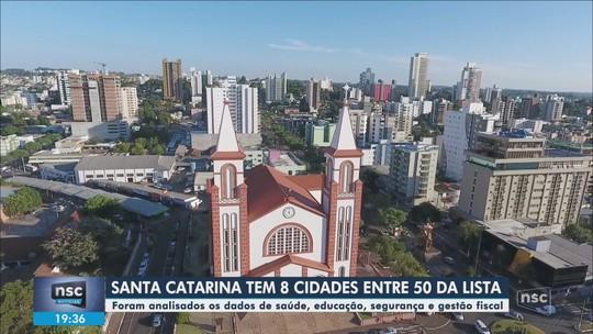 SC tem 8 das 50 melhores cidades do Brasil com mais de 100 mil habitantes, segundo IGM