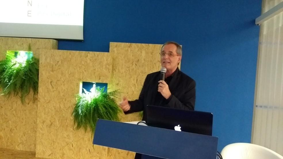 Walter Longo, especialista que falou sobre os desafios frente os avanços tecnológicos (Foto: Toni Francis/G1)