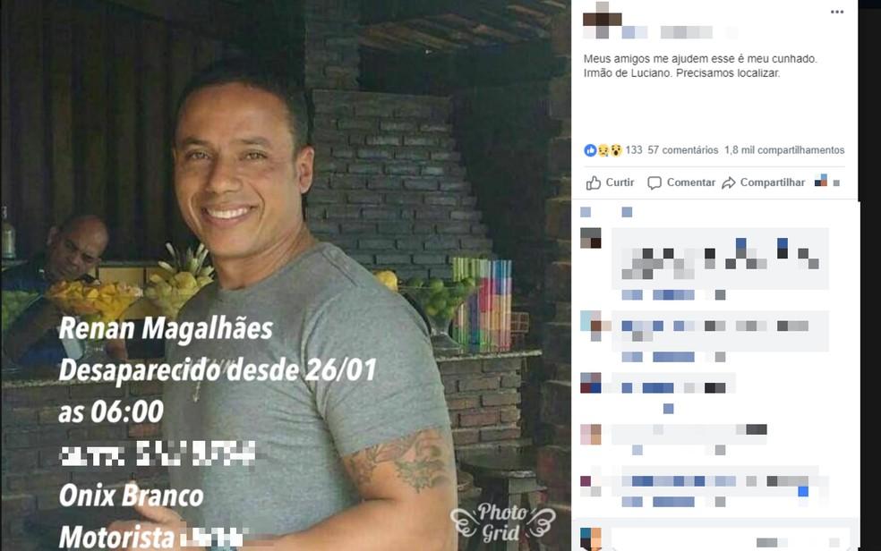 Motorista de aplicativo é encontrado morto após sair para fazer corrida em Salvador; vítima sumiu por três dias — Foto: Reprodução/Redes Sociais