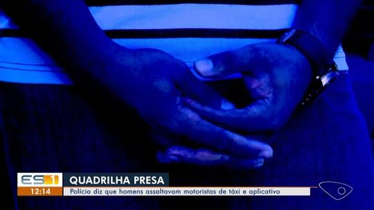 Quatro homens são presos por suspeita de integrar quadrilha de assalto a motoristas, em Vitória