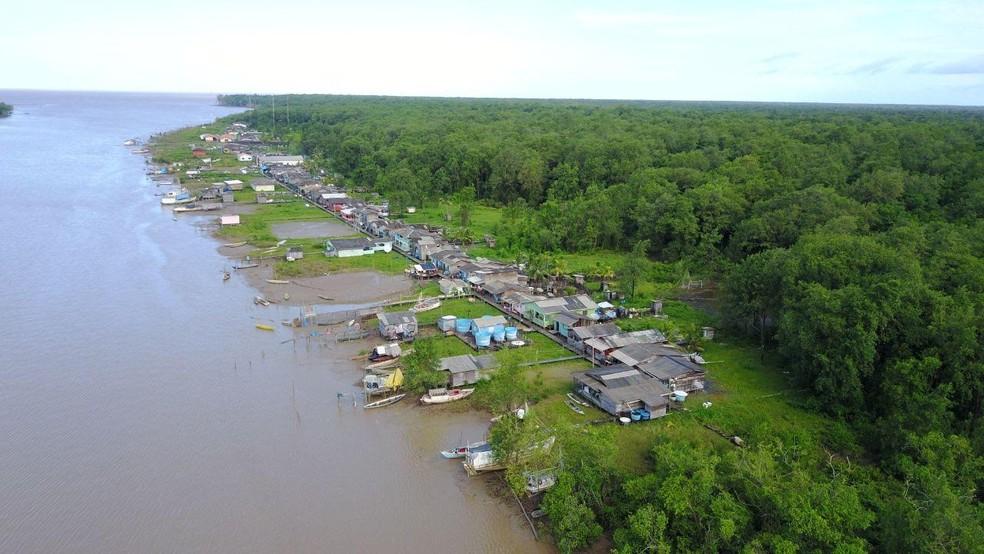 VIla de Sucuriju, no município de Amapá, vive sob influência do rio, assim como muitos moradores do estado — Foto: André Penna/Arquivo Pessoal