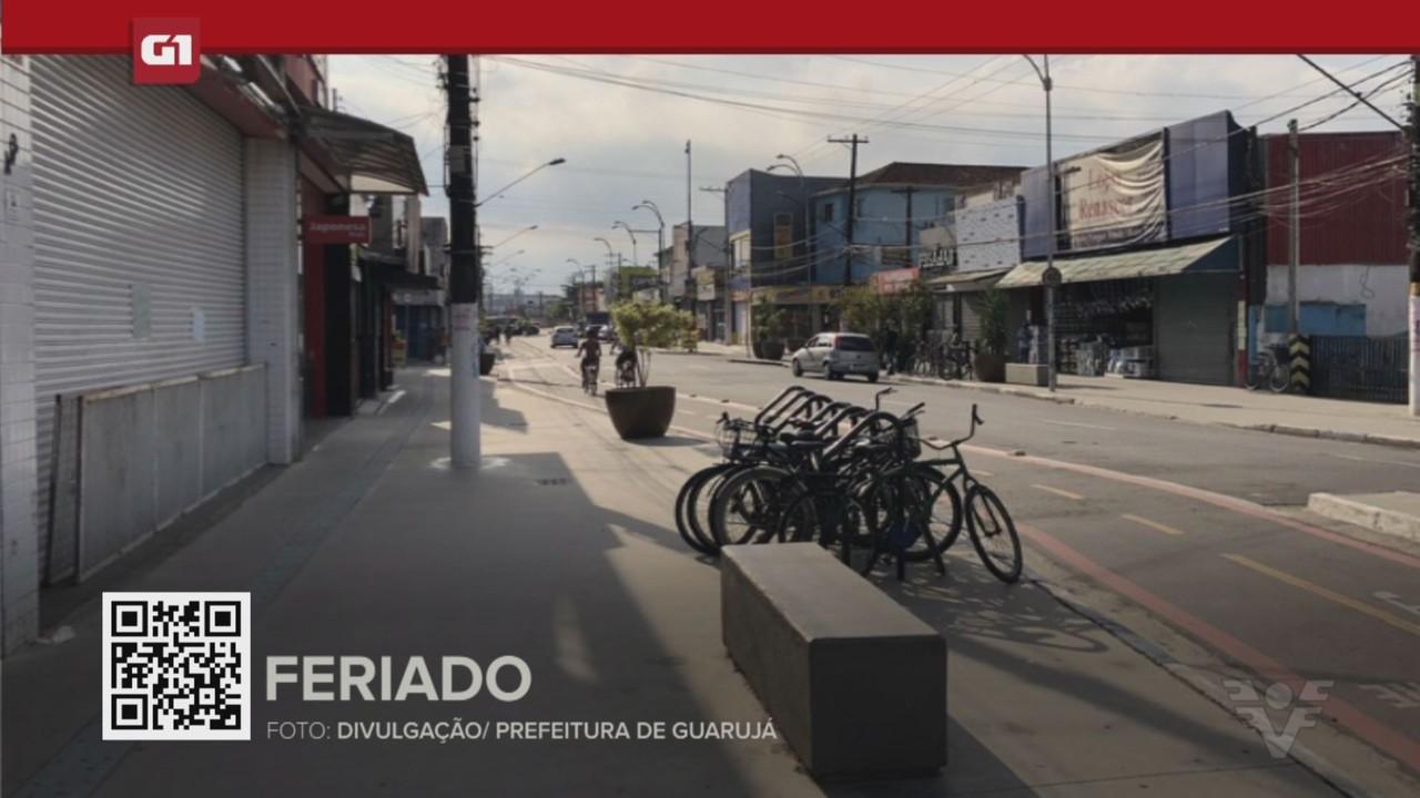 G1 em 1 minuto - Santos: Cidades da Baixada Santista definem expediente de serviços