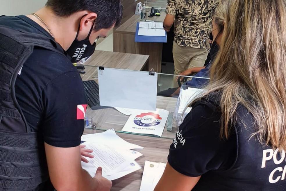 Empresa de investimentos suspeita de aplicar golpes em mais de mil clientes em Belém é alvo de operação da Polícia Civil. — Foto: Reprodução / Polícia Civil do Pará