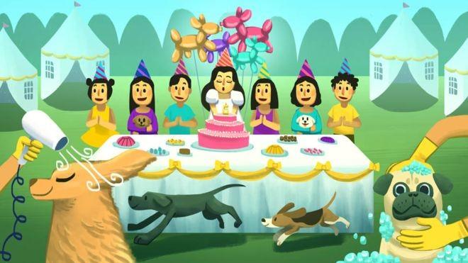 Uma família de novos ricos indonésios tranformou um terreno sem nada em um parque e contratou até cabeleireiro de cachorro para a festa de 6 anos de uma menina (Foto: via BBC News)