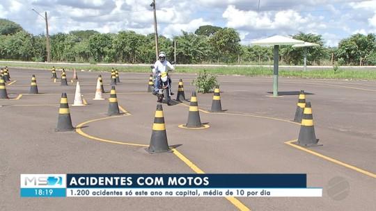 Em menos de 4 meses, 1.200 acidentes envolvendo motociclistas na capital