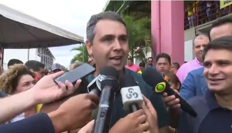 Marcus Alexandre (PT) fala durante convenção da FPA (Foto: Reprodução Rede Amazônica Acre)