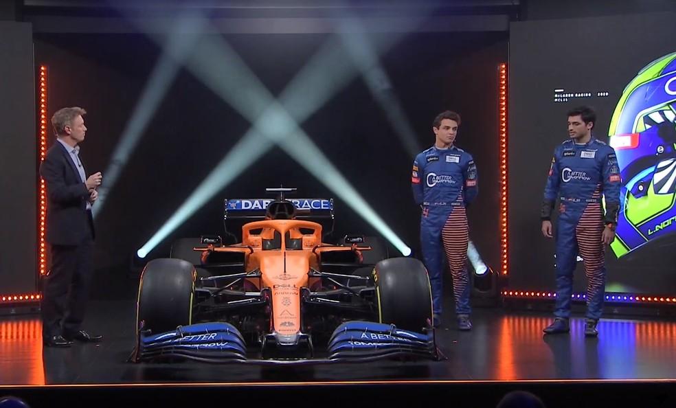 Norris e Sainz formam novamente a dupla da McLaren em 2020 — Foto: Reprodução/McLaren