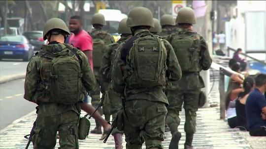 Forças federais reforçam a segurança no Rio de Janeiro