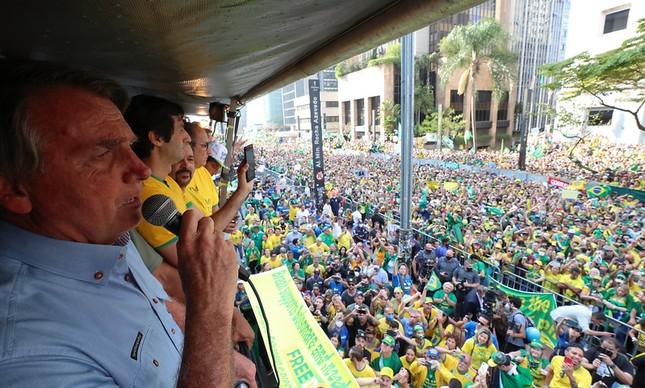 Bolsonaro discursa na Av. Paulista no 7 de setembro
