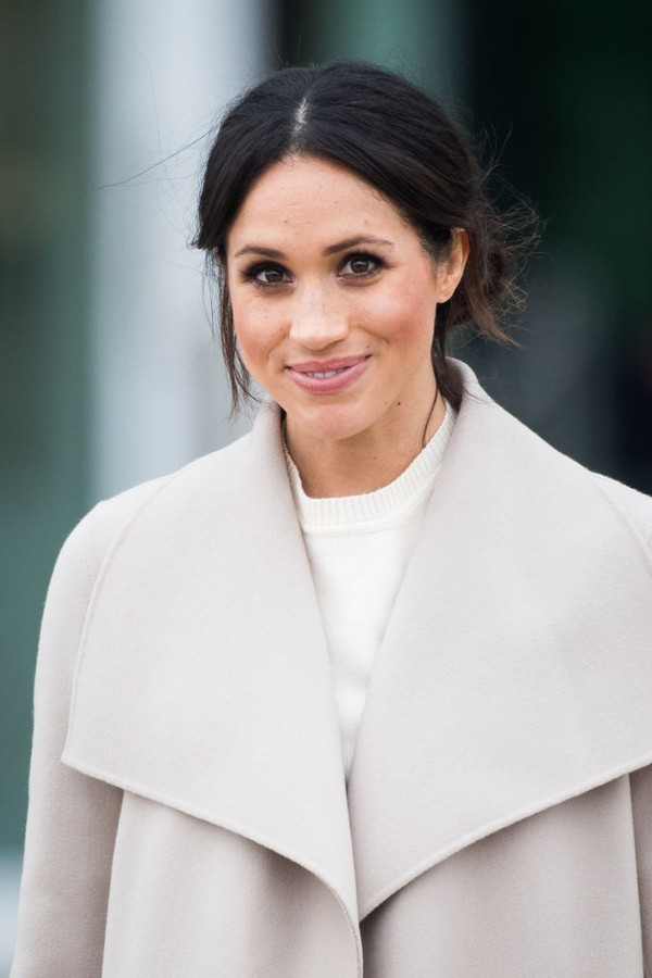 BELFAST, NORTHERN IRELAND - MARCH 23:  Meghan Markle visits  the iconic Titanic Belfast during their visit to Northern Ireland on March 23, 2018 in Belfast, Northern Ireland, United Kingdom.  (Photo by Samir Hussein/Samir Hussein/WireImage) (Foto: Samir Hussein/WireImage)