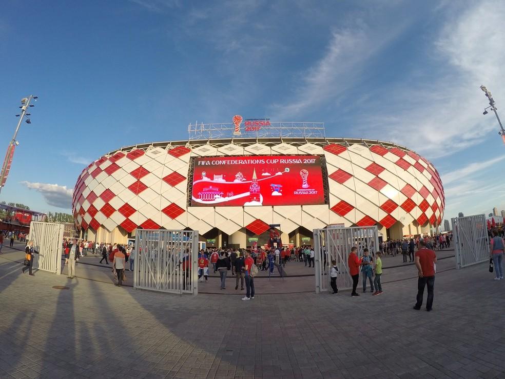 Estádio do Spartak será palco de Brasil x Sérvia (Foto: Richard Souza / GloboEsporte.com)