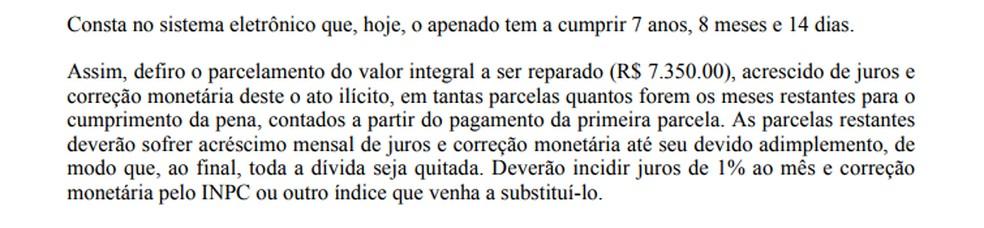 Justiça do Paraná não aceitou condições propostas pelo senados para quitar dívida. — Foto: Reprodução