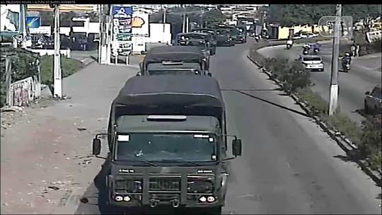 Com envio de Forças Armadas, caminhoneiros liberam rodovia que dá acesso a refinaria no RN; veja vídeo