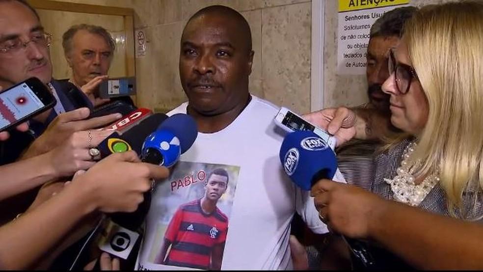 Pai de Pablo vítima da tragédia do Ninho do Urubu Flamengo — Foto: Reprodução