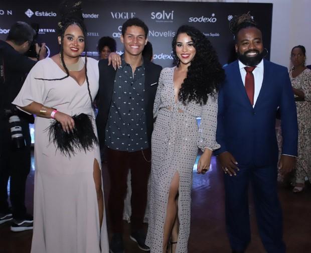 Os ex-BBBs Rízia Cerqueira, Danrley Ferreira, Elana Valenaria e Rodrigo França (Foto: Daniel Pinheiro/AgNews)