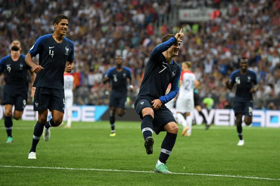 Griezmann, melhor da final, conduz França ao título: participação em seis dos sete gols desde as quartas