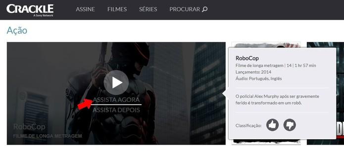 Assista a filmes no Crackle, plataforma de streaming da Sony (Foto: Reprodução/Rodrigo Fernandes)