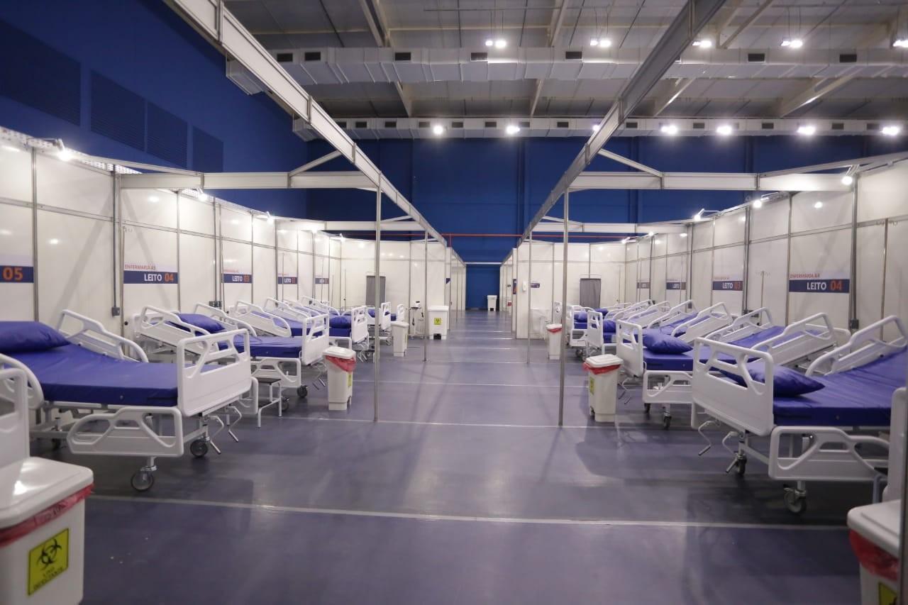 Hospital de Campanha em Teresina tem leitos desativados após queda de internações por Covid-19