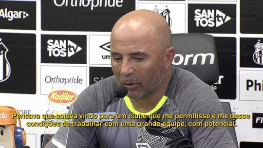 "Comentaristas duvidam que Sampaoli desconhecesse crise do Santos: ""Está pressionando"""