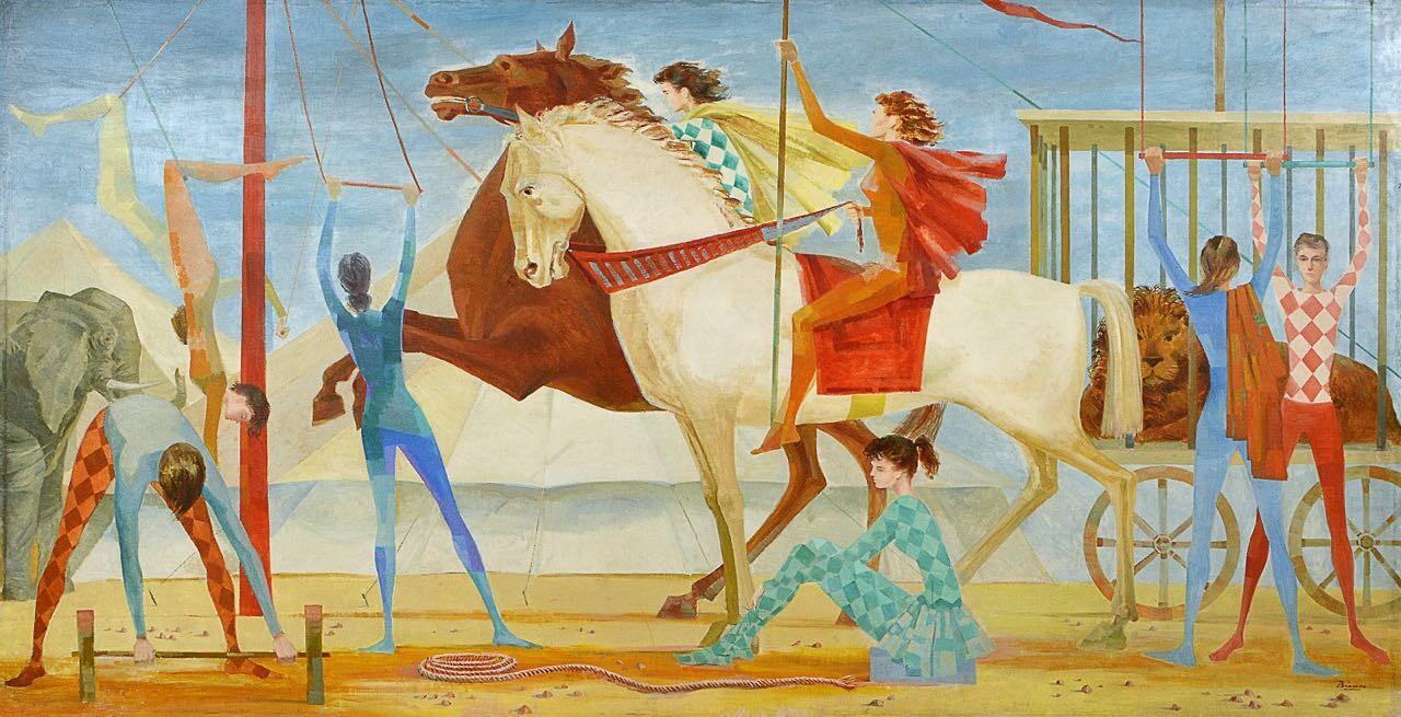 O painel de Enrico Bianco, o artista italiano