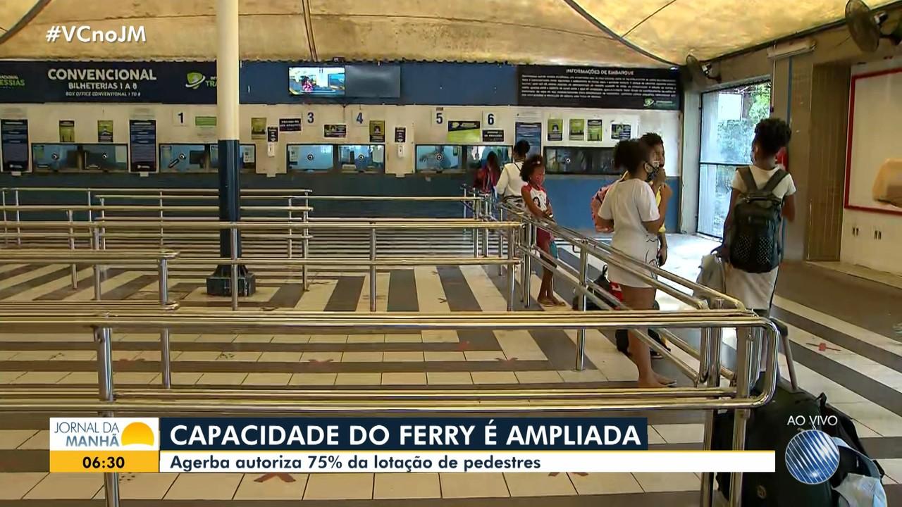 Agerba autoriza ampliação da ocupação de pedestres no ferry-boat, a partir desta quinta