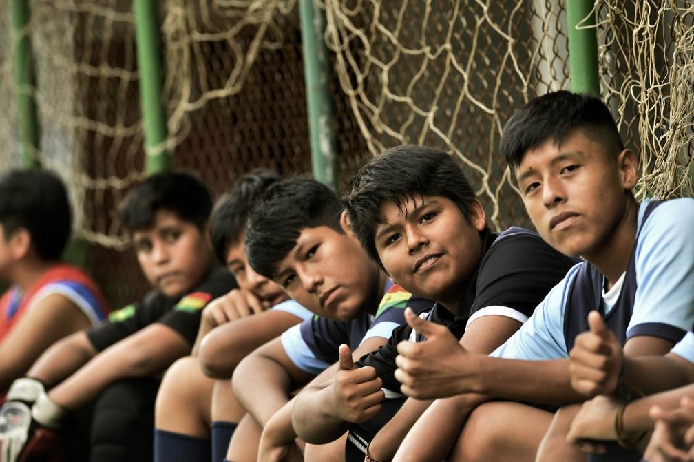 Escolinha do Bolívar fica em área cercada de bairros que são redutos de imigrantes, muitos bolivianos entre eles — Foto: Marcos Ribolli