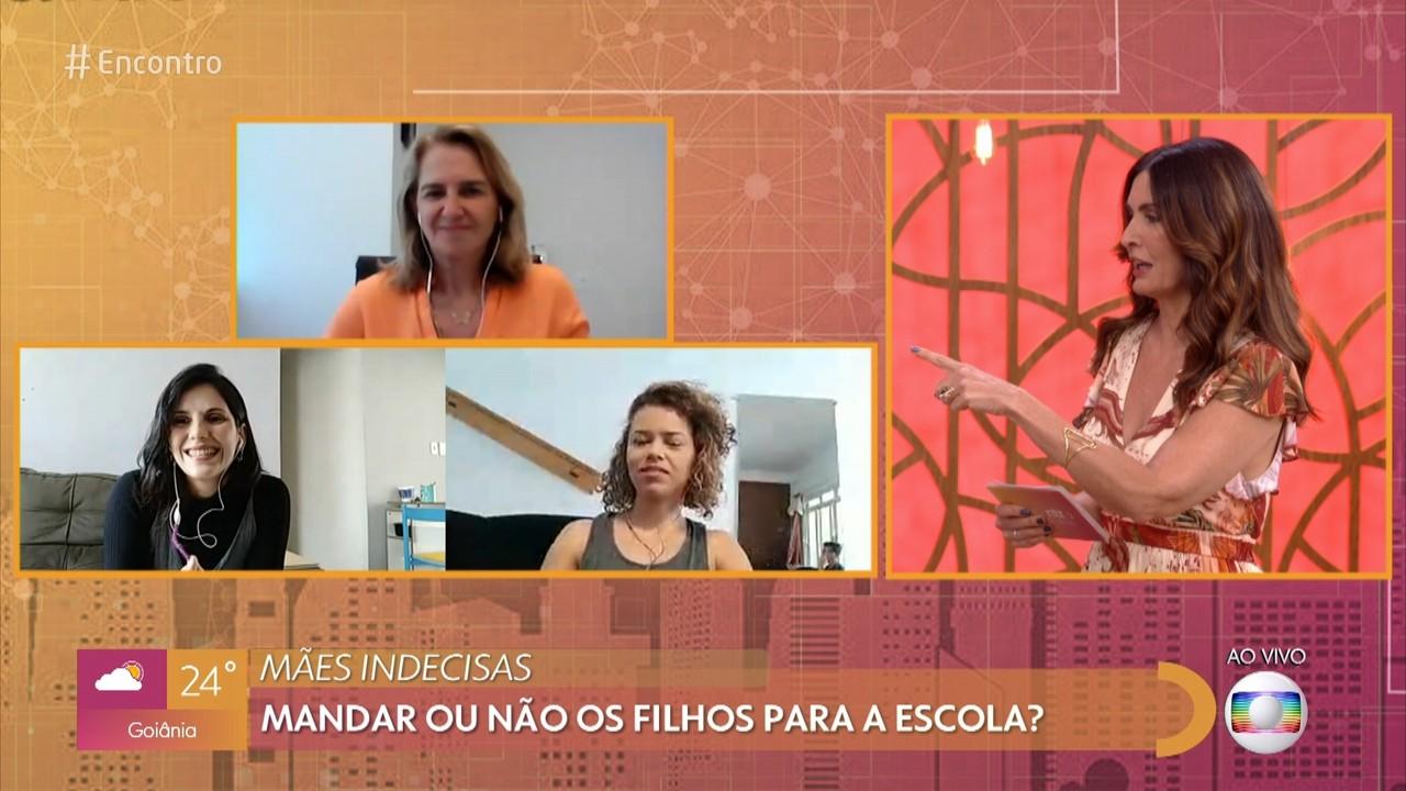 Mães debatem assuntos sobre seus filhos durante a pandemia