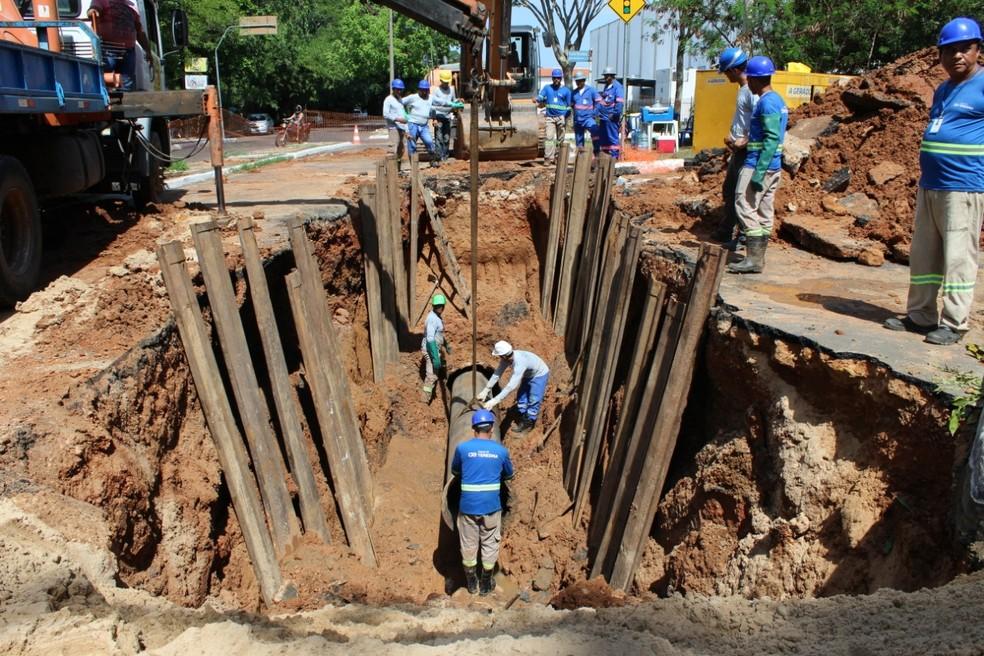 Avenida Maranhão e Ponte Metálica ficarão parcialmente interditadas até sexta-feira (21) — Foto: Divulgação/Águas de Teresina