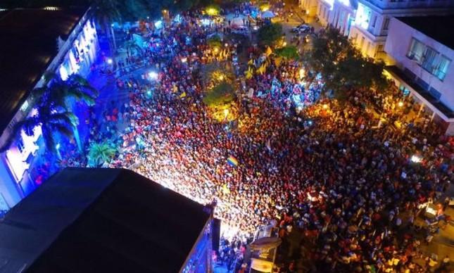 Multidão em São Luís ouvindo o ex-presidente Lula (Foto: Ricardo Stuckert / Site do PT)