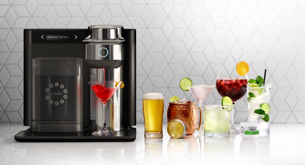 Máquinas Home Bar faz coquetéis e cerveja em questão de segundos ? Foto: Divulgação/ Drinkworks