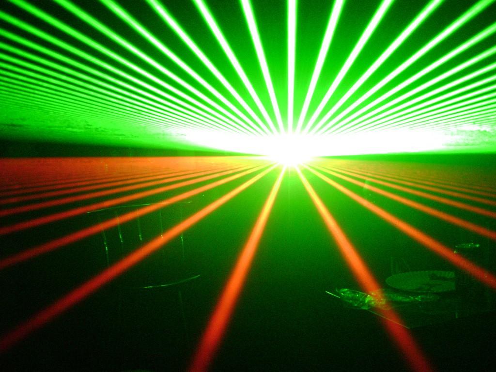 Raios laser (Foto: Reprodução/Flickr)