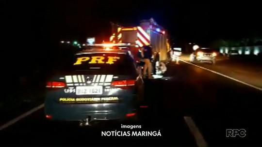 Motociclista morre após ser arrastado por carro por mais de 80 metros na BR-376, diz PRF