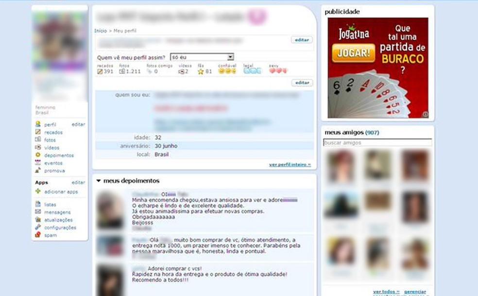 Recados enviados por depoimentos podiam conter grandes segredos — Foto: Reprodução/Orkut