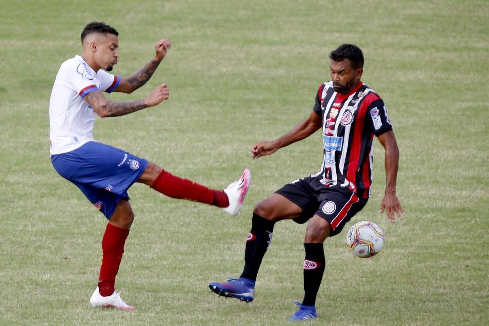 Bahia foi derrotado pelo Atlético de Alagoinhas — Foto: Felipe Oliveira/EC Bahia/Divulgação