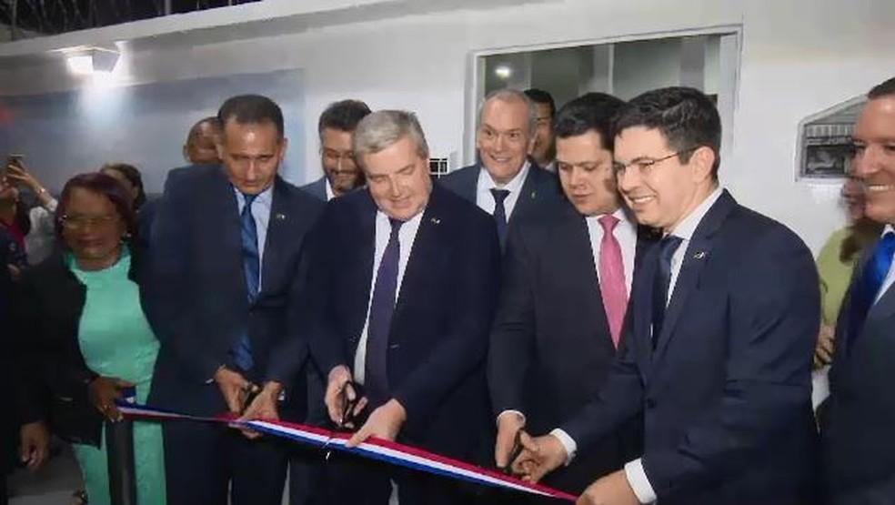 Momento da inauguração oficial do consulado francês no Amapá — Foto: Rede Amazônica/Reprodução