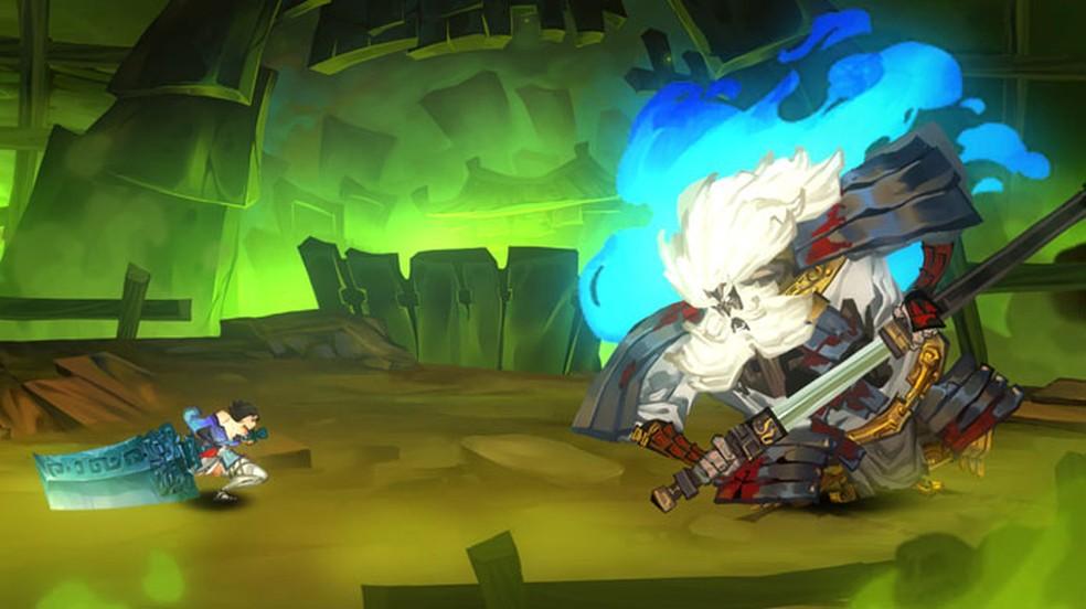 Bladed Fury traz ação intensa em 2D com uma história repleta de toques da mitologia chinesa — Foto: Reprodução/Steam
