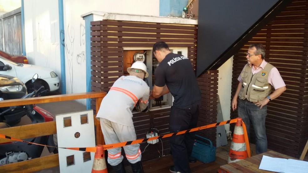 Fraude foi constatada no medidor de energia em MS (Foto: Energisa/Divulgação)