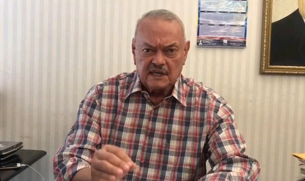 Roberto França é candidato a prefeito pelo Patriotas — Foto: Reprodução