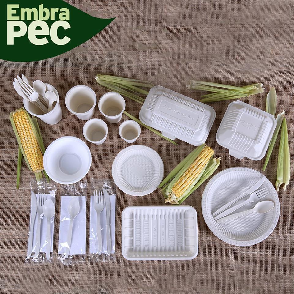 Produtos da Embrapec são feitos à base de amido de milho. (Foto: Embrapec)