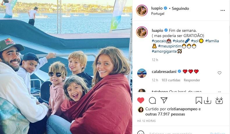 Luana Piovani faz post com foto de Pedro Scooby e Cintia Dicker (Foto: Reprodução/Instagram)