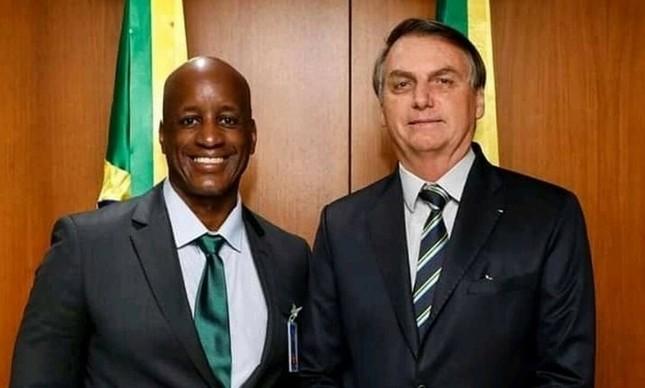 Jair Bolsonaro e Sergio Camargo, presidente da Fundação Palmares