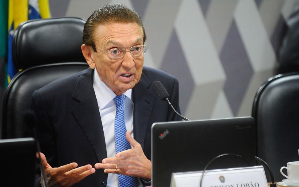 O ex-senador e ex-ministro Edison Lobão (PMDB-PA) — Foto: Marcos Oliveira/Agência Senado