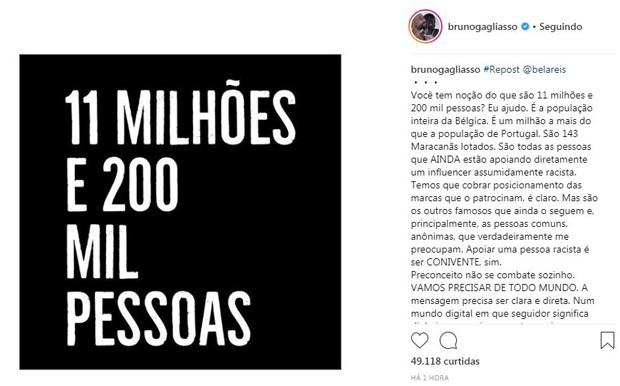 Post de Bruno Gagliasso (Foto: Reprodução/Instagram)