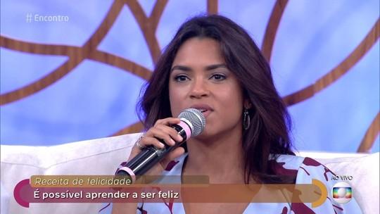 Reveja a participação de Lucy Alves no programa