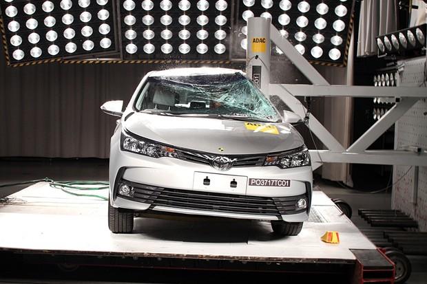 1c51d8ac12a Toyota Corolla crash test Latin NCAP (Foto  Divulgação)