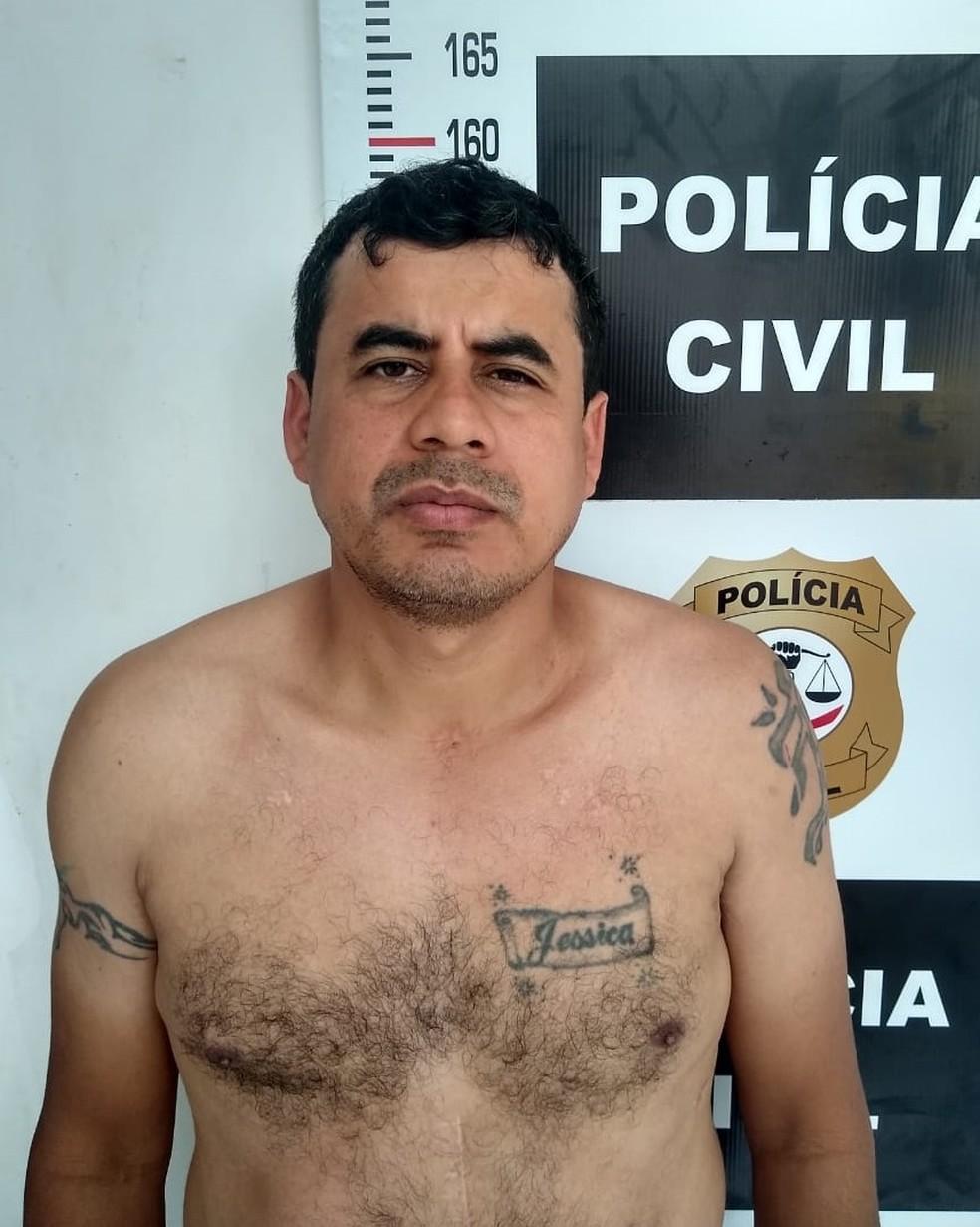 Roberto dos Santos Lima foi encaminhado para a Unidade Prisional de Açailândia — Foto: Divulgação/Polícia