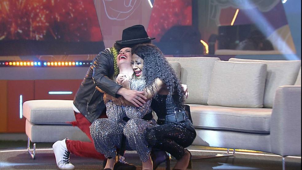BBB21: A emoção foi grande entre os finalistas — Foto: Globo